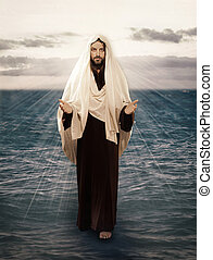 agua, jesús, paseos