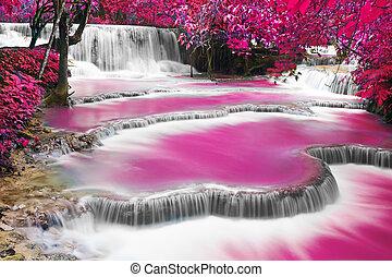 agua, kuang, turquesa, cascada, si