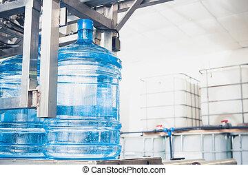 agua, línea de montaje