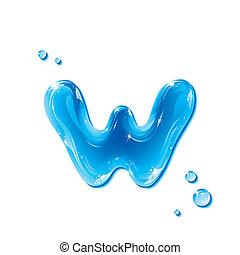 agua, líquido, -small, carta, w