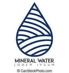 agua, logotipo, mineral