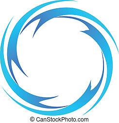 agua, logotipo, vector, ondas