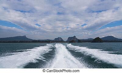 agua, mar, taponazo, manera, onda