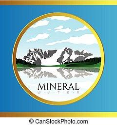 agua mineral, ilustración