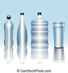 agua, mineral, ilustración