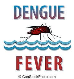 agua, mosquito, fiebre, dengue
