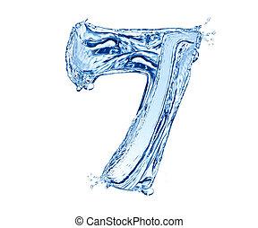 agua, número