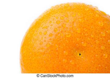 agua, naranja, blanco, gota, maduro