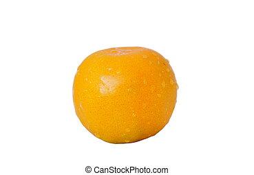 agua, naranja, blanco, gota, plano de fondo