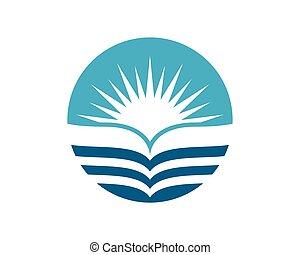 agua, onda, logotipo
