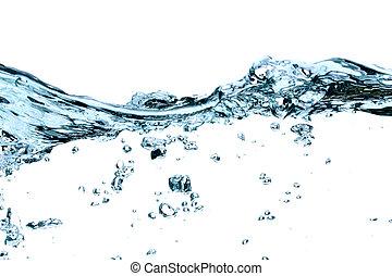 agua, ondas, y, salpicaduras