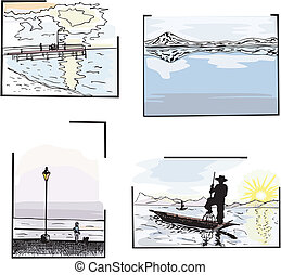 agua, paisajes