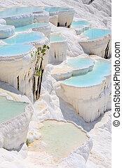 agua, pamukkale, azul, pavo, piscinas, travertine