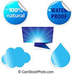 agua, pegatina