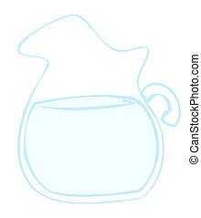 agua, pitcher.