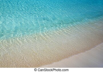 agua, playa, ondas