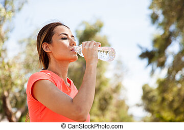 agua potable, aire libre