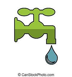 agua pura, golpecito, icono