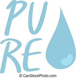 agua pura, icono