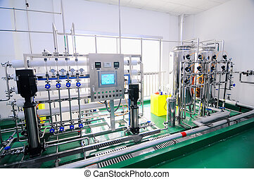 agua, purificación, equipo