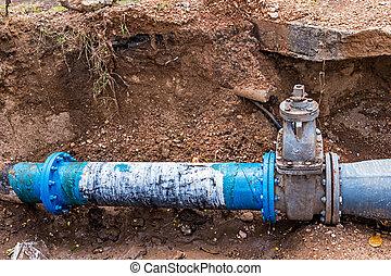 agua, pvc, pipes., plástico