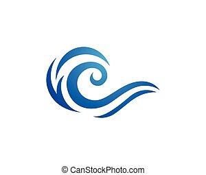 agua, símbolo, onda