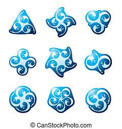 agua, símbolos