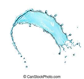 agua, salpicadura, aislado