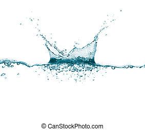 agua, salpicadura