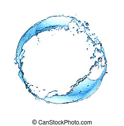 agua, salpicar, anillo