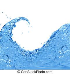 agua, salpicar