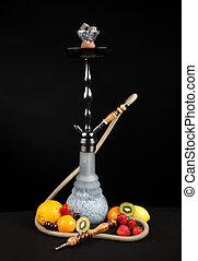 agua, sheesha, tubo, narguile, shisha, o