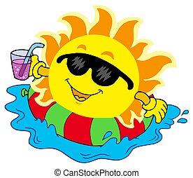 agua, sol, bebida