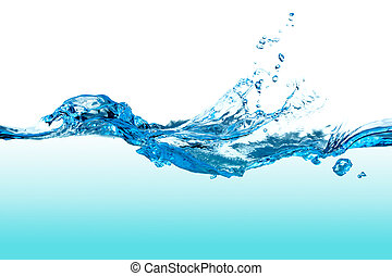 agua, splash.