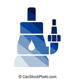 agua, sumergible, bomba, icono