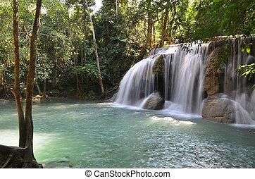 agua, superficial, cascadas