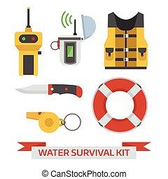 agua, surival, emergencia, kit