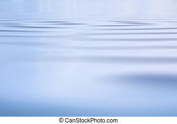 agua, sutil, ondas