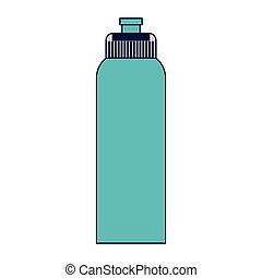 agua, thermo, botella