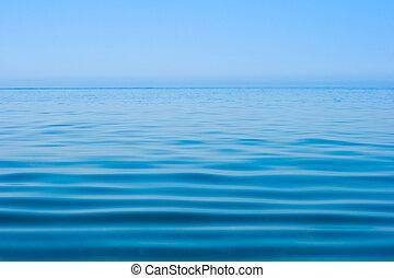 agua, todavía en calma, mar, superficie