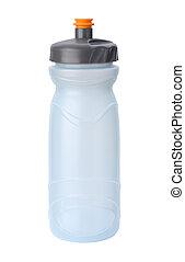agua, trayectoria, recorte, aislado, botella