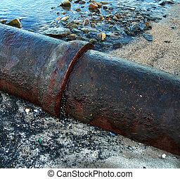 agua, tubo desecho