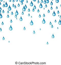 agua, vector, gotas
