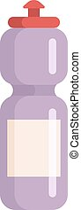 agua, vector, illustration., botella, deportes