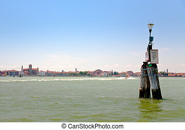 agua, veneciano, manera, laguna