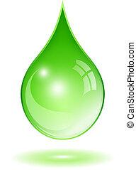 agua verde, gota