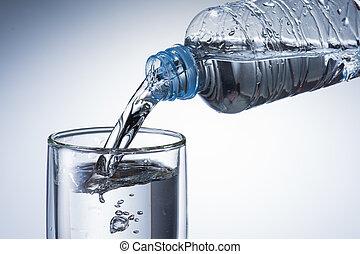 agua, verter