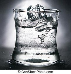 agua, vidrio, frío, hielo