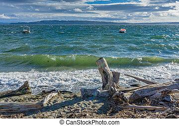 agua, vista marina, 3, picado