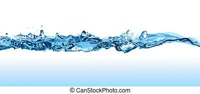 agua, wave.